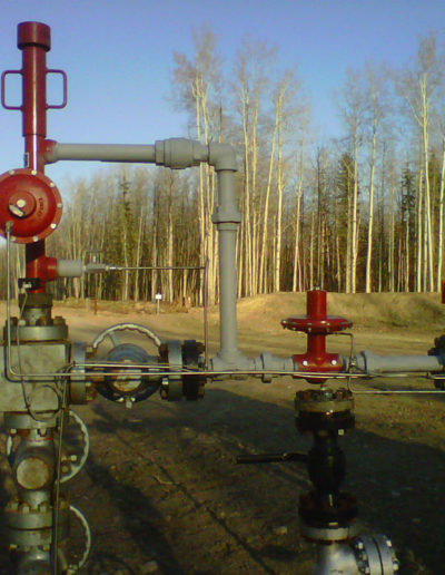 POS plunger lift install - wellhead Pic